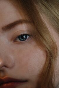 person face in close up photo