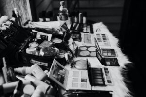 different cosmetic products for beauty procedures